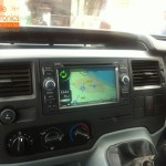 Transit Van Fitted With Double Din Multimedia Navigation System