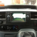 Transit Van Fitted With Double Din Rear Camera System
