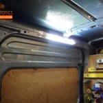 Transit Van Fitted With LED Interior Light