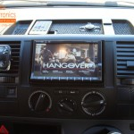 VW Transporter Fitted With Motorised DVD Headunit